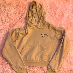 pink vans cropped hoodie